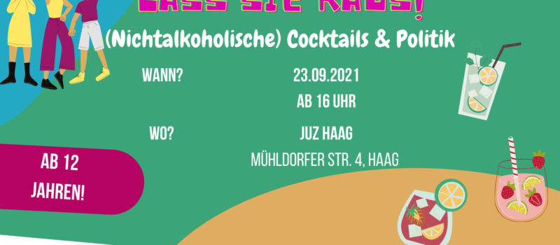 Einladung zur Cocktailbar ins JUZ Haag